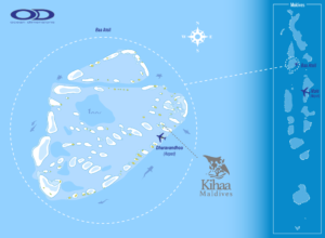 Kihaa Maldives Location in Baa Atoll
